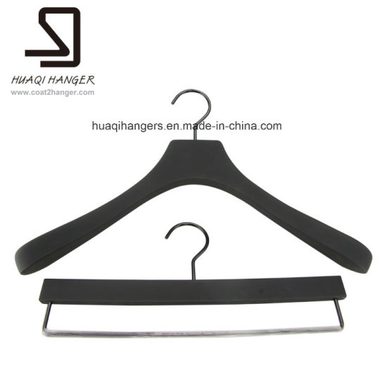 Suit Wooden Hanger with Top and Trousers