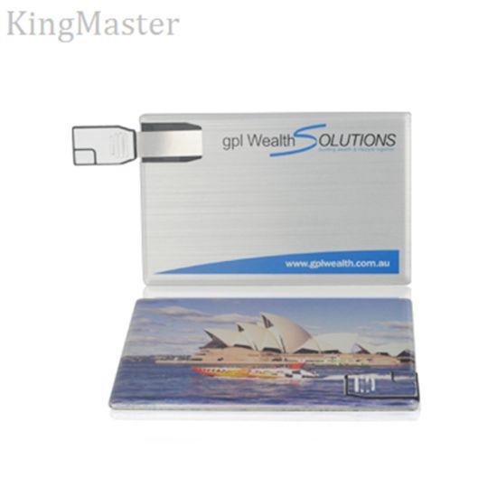 Custom Logo Metal USB Flash Drive Credit Card USB Stick