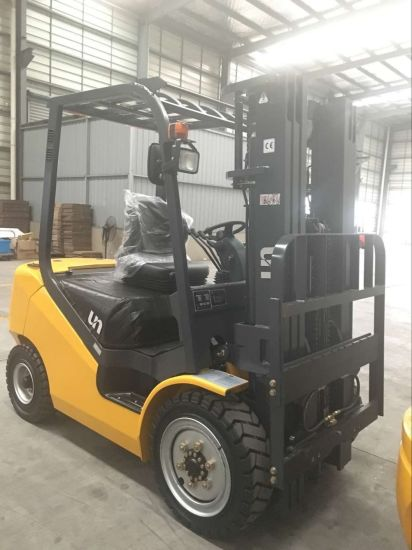 Un New Series Diesel Forklift 3 Ton Diesel Forklift with Japanese Engine 3 Meters Lifting Height Mast pictures & photos