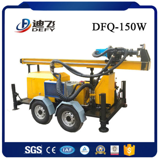 Dfq-150W Air Compressor Small Bore Well Drilling Machine pictures & photos
