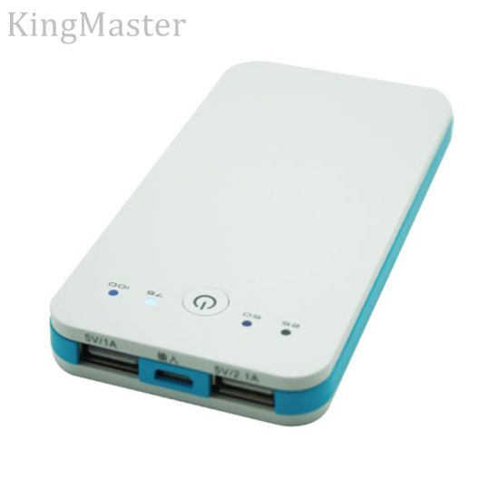 Kingmaster Two Output Plastic 4000mAh Power Bank Ultra-Thin External Battery pictures & photos