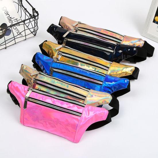 d95915a9082f 2019 Holographic Fanny Pack Women Laser Bum Bag Travel Beach Shiny Waist  Bags Hip Bag Fashion Hologram PVC Travel Bag