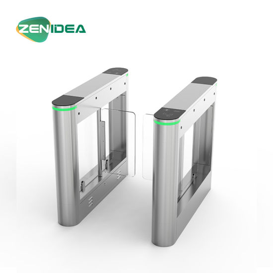 Swing Turnstile Barrier Gate for Hotels Access Control Fully Automatic Optical Fingerprint