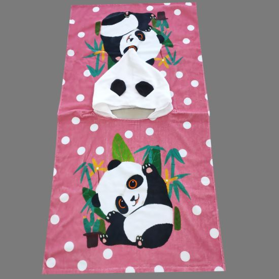 Digital Printed Children Towel Poncho pictures & photos