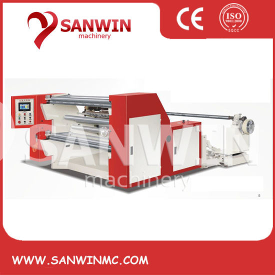 Automatic Plastic Film Aluminum Foil Paper Non Woven Fabric Slitting Machine