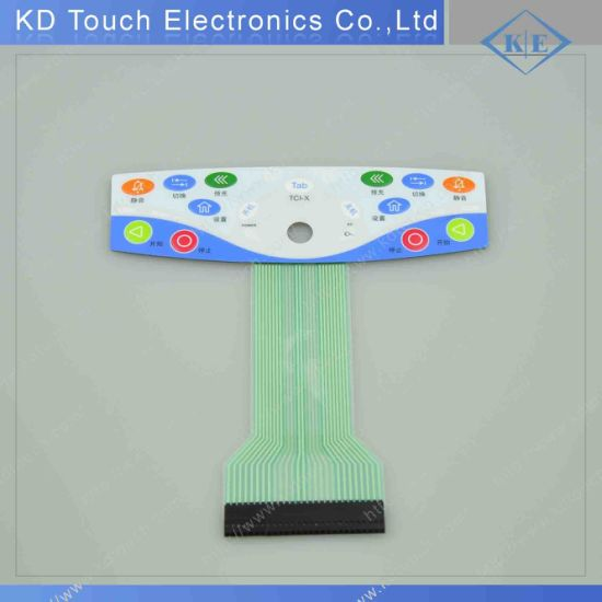 Hot Sale Tactile Membrane Switch with Buttons Without Embossing