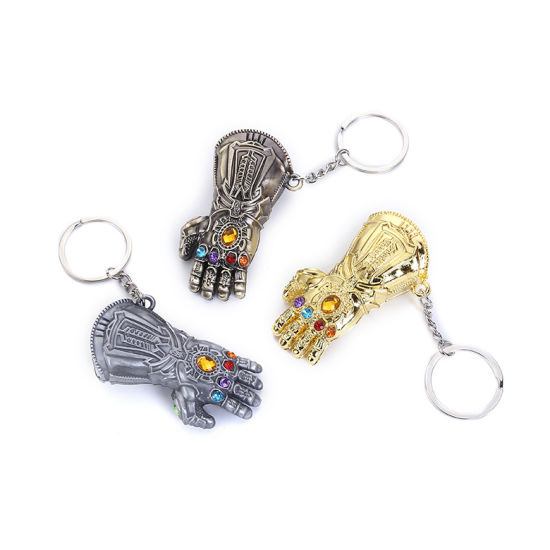 Keychain Iron Man Keychain Thanos Glove Keychain Glove Key Ring