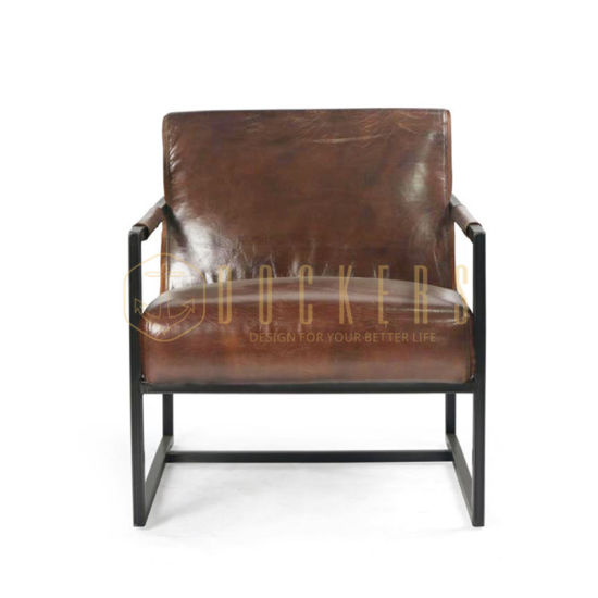 Hot Sale Modern Living Room Furniture Industrial Style Single Leather Sofa Chair China Vintage Furniture Professor Chair Made In China Com