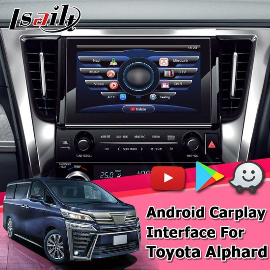 Lsailt Android GPS Navigation Box for Toyota Alphard / Vellfire 2019 Video Interface Denso Fujitsu Ten Panasonic pictures & photos