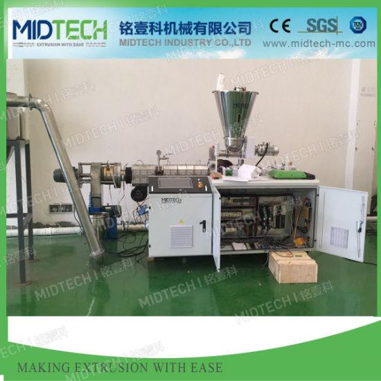 Plastic PVC/SPVC/WPC Conical Twin Screw Hot Die Face Cutting/Cutter Granulation/ Pelletizing Recycling Machine Sjz80/156 & Sjz65/132 Price