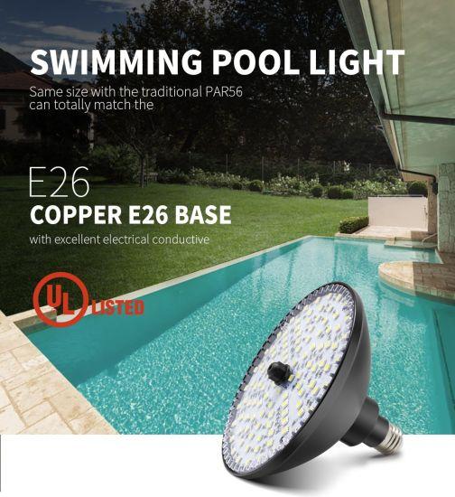 Low Voltage18W 12V E26 Base Warm White 3500K Wireless Multicolor LED Bulb PAR 56 Pool Light Underwater Light
