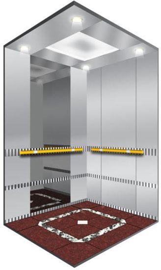 Small Machine Room Passenger Elevator with Mirror Etching