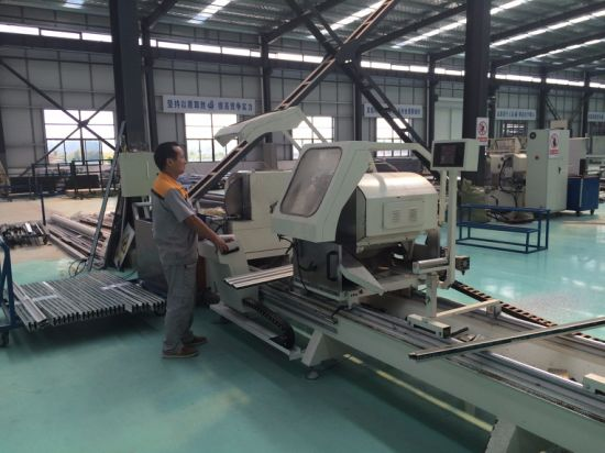 45 and 90 Degree Double Mitre Cutting Saw Machine No Need Back Home Point pictures & photos