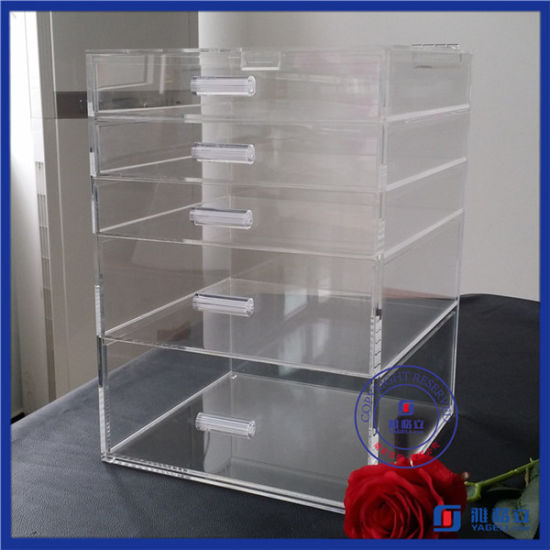 China Factory Custom Acrylic Makeup Organizer Drawers pictures & photos