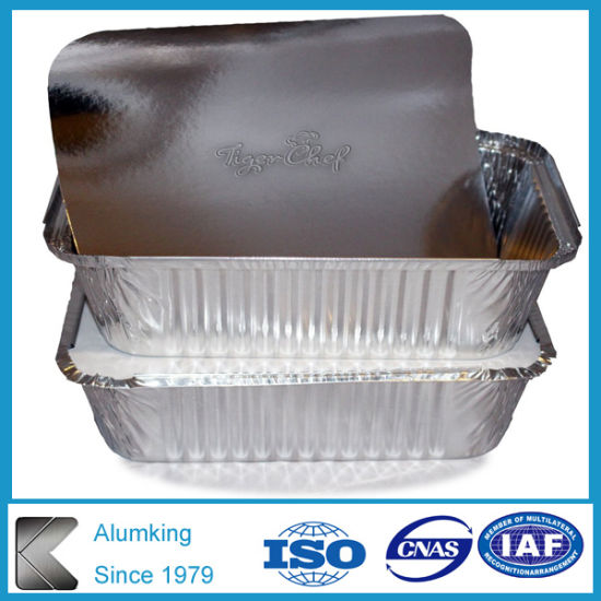 Aluminum Foil Containers with Paper Lid pictures & photos