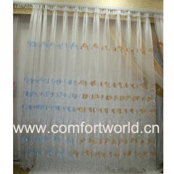Embroidery Curtain Fabric (SHCL01783) pictures & photos