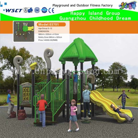 New Design Outdoor Children Playground with Housetop (M15-0016) pictures & photos