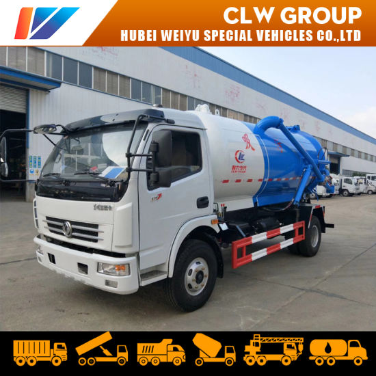 8000liters Vacuum Sewage Suction Truck Sewer Cleaning with Vacuum Pump