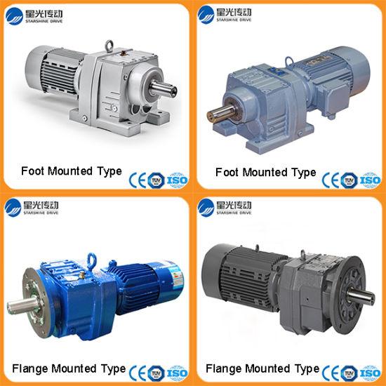 1HP 2HP 3HP Flange Mounting Helical IEC Motor Gearbox RF67