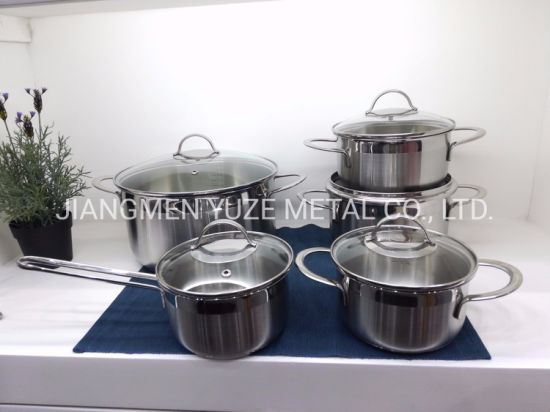 Stainless Steel Cookware, Sauce Pan and Pot, Kitchen Utensils, Kitchenware for Induction