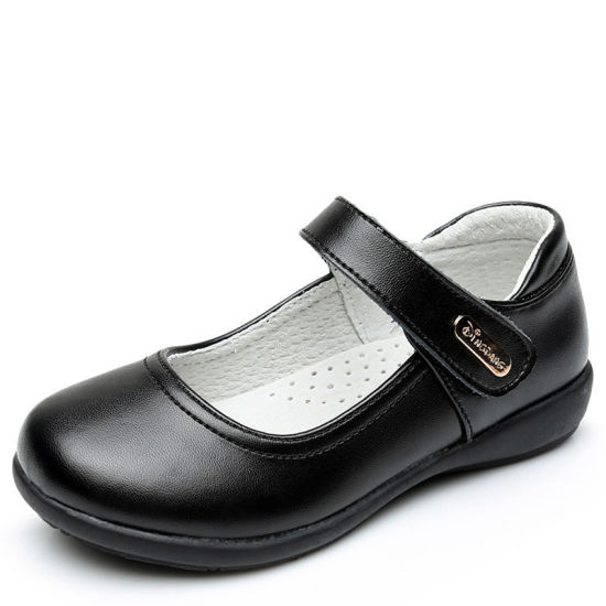 Student Back to School Kids Shoes Black Leather Kids School Shoes