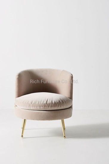 Living Room Bedroom Metal Legs Sofa Chair Fabric Velvet Leisure Tub Chair Hotel Lounge Couch China Chair Leisure Chair Made In China Com