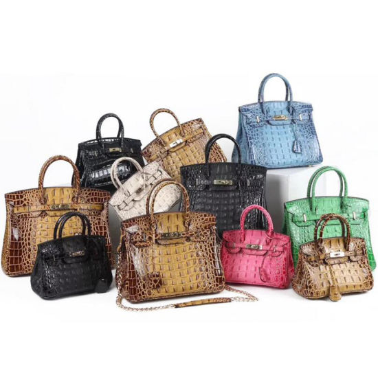 Vintage Platinum Famous Lady Bag Luxury Designer Women Bag Genuine Real Alligator Leather Bags Replica Bag Wholesale Brand Name Bag Guangzhou Market OEM Factory