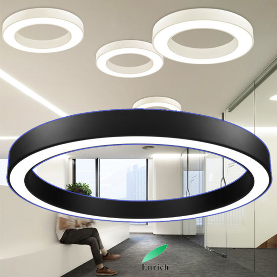 Golden/ Silver Color LED Suspended Ring Light Circular Profile LED Fitting  for Stores