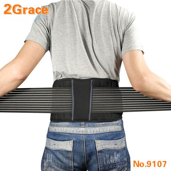 Stabilizing Lumbar Lower Breathable Back Brace Support Belt Dual Adjustable Straps Breathable