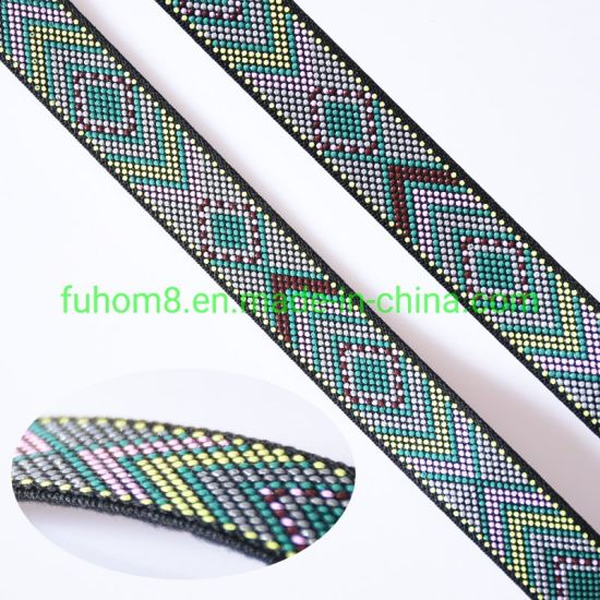Custom Popular Nylon Elastic Webbing with Silicone Printing