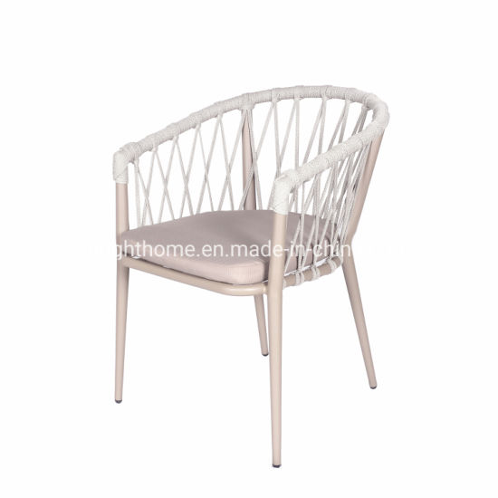 New Popular Modern Leisure Aluminium Rattan Rope Garden Hotel Home Furniture Outdoor Chair