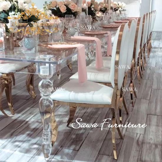 China Customized Clear Acrylic Tables Fashionable Acrylic