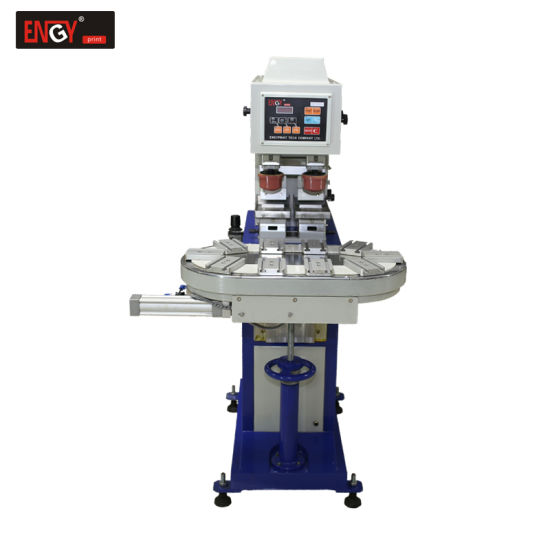 Automatic 2 Color Rotary Table Pad Printing Machine for Sale Tampoprint Price