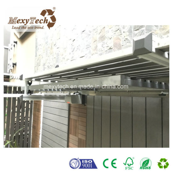 Outdoor Waterproof Garden Electric WPC Fence Sliding Gate pictures & photos