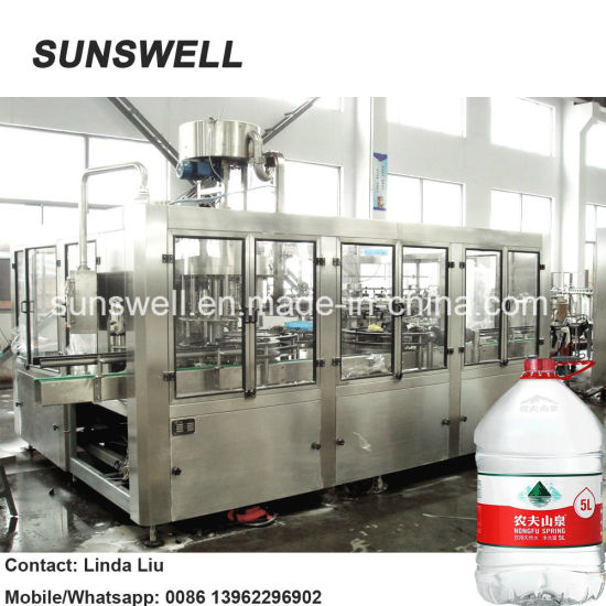 1500bph Big Bottle 5-10L Plasitc Bottle Water Filling Machine/Pure&Mineral Water Bottling System pictures & photos