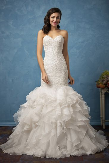 China Amelie Rocky Sweetheart Vintage Lace Bridal Dress Mermaid ...