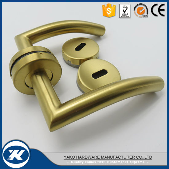 PVD Plated Stainless Steel Door Handle Lever with Ce Certificate pictures & photos