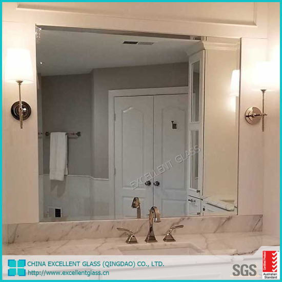 4mm/6mm Copper Free Epoxy Silver Mirror with Polished Edge for Decoration, Building