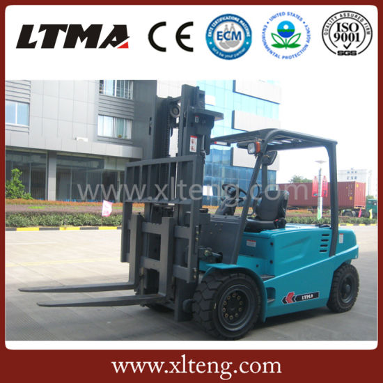 Customizing Color Battery Forklift 4.5 Ton Electric Forklift pictures & photos