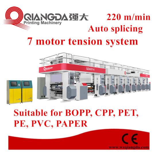 High Speed Rotogravure Printing Machine for Plastic Film
