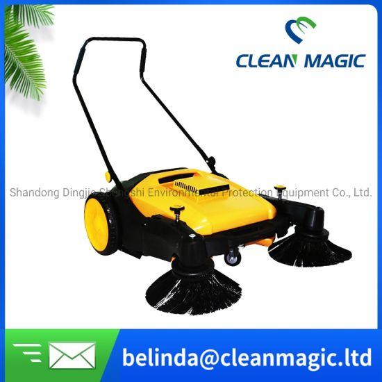 Clean Magic CD200A Electric Walk Behind Road Sweeper Hand Push Street Cleaning Machine Floor Sweeping Machine