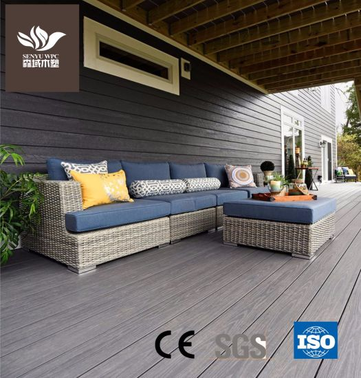 Wood Plastic Material Hollow Flooring