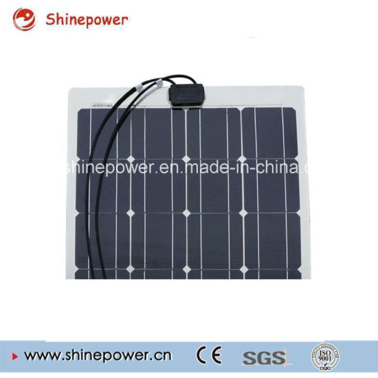 100W Semi-Flexible Light Weight Solar Cell Panel for Camper RV Yacht Home pictures & photos