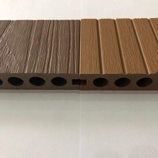 ASA-PVC Co-Extrusion Exterior Wood Plastic Composite WPC Flooring Panel