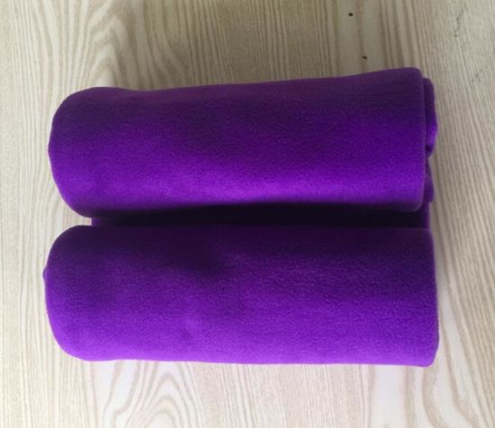 4287c643699e China 100% Polyester Anti Pilling Plain Color Polar Fleece Blanket ...