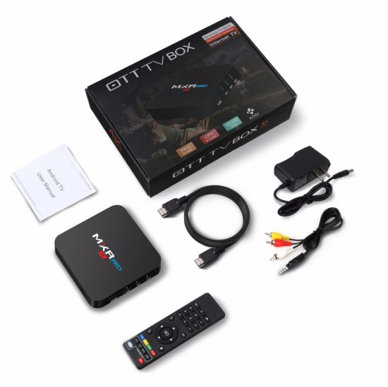 Smart TV Box Mxr PRO Rk3328 4GB 32GB Android 7.1 TV Box Kodi 17.3 pictures & photos