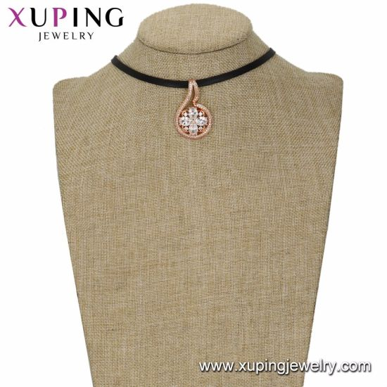 44365 Simple 18K Gold Plated Jewelry Chain Necklace with No Stone pictures & photos