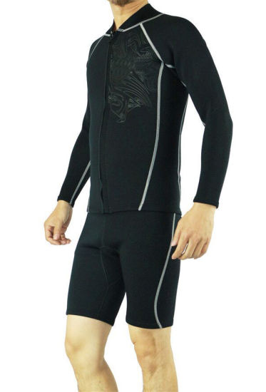 China Men′s Short Sleeve Neoprene Wetsuit of Two Part - China ... d6385ff70