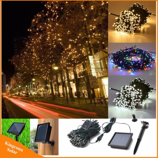 50LED/100/200 LED Solar Lamps LED String Fairy Lights Garland Christmas Solar Light for Wedding Garden Party Decoration Outdoor pictures & photos