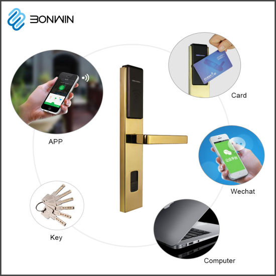 Mobile Controlled Wireless Hotel Thin Door Lock APP Door Lock System pictures & photos